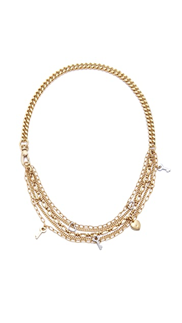 Marc by Marc Jacobs Looped Multi Chain Necklace