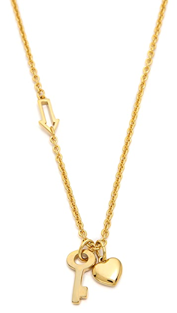 Marc by Marc Jacobs Locked Bow Tie Necklace