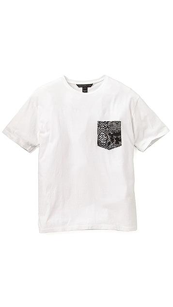 Marc by Marc Jacobs Rex Snake Pocket T-Shirt