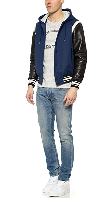 Marc by Marc Jacobs Techno Varsity Jacket