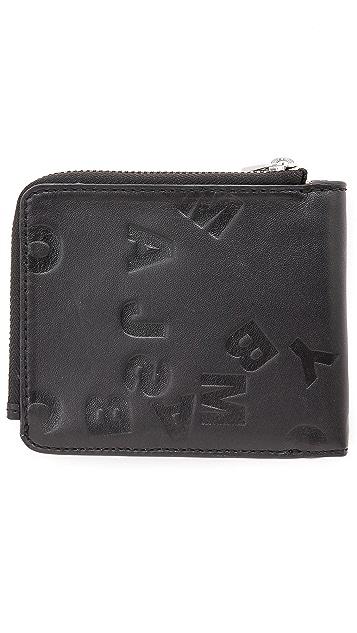 Marc by Marc Jacobs Scrambled Logo Embossed Zip Wallet