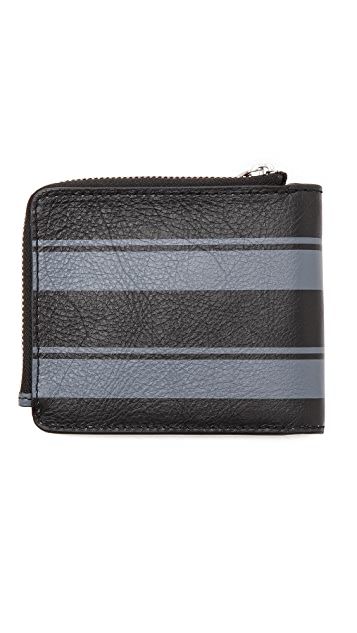 Marc by Marc Jacobs Printed Stripe Leather Zip Wallet