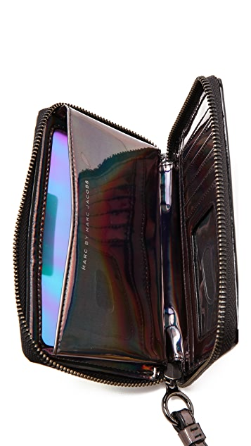 Marc by Marc Jacobs Crystal Clear Wingman Wristlet