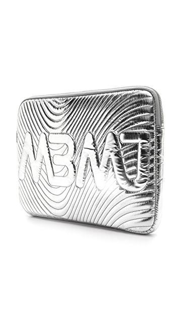 Marc by Marc Jacobs Quilted Metallic Computer Case
