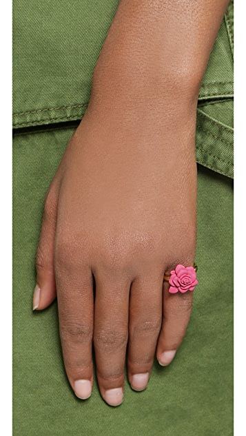 Marc by Marc Jacobs Rubberized Jerrie Rose Ring