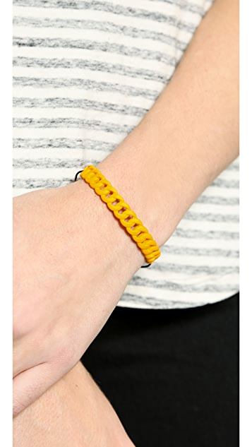 Marc by Marc Jacobs Rubberized Solidly Linked Friendship Bracelet