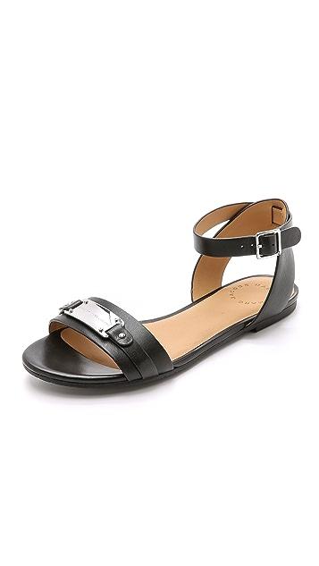 Marc by Marc Jacobs Plaque Belt Flat Sandals