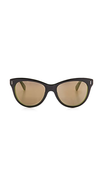 Marc by Marc Jacobs Mirrored Slight Cat Eye Sunglasses