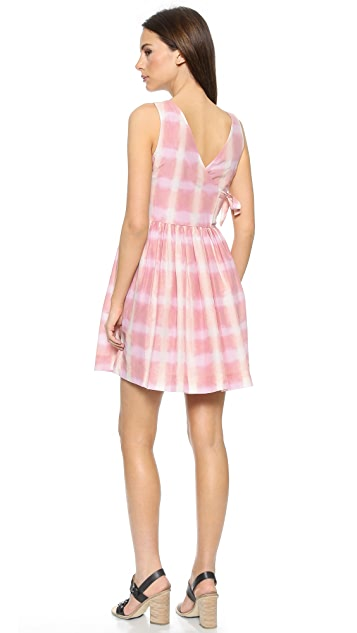 Marc by Marc Jacobs Blurred Gingham Voile Dress