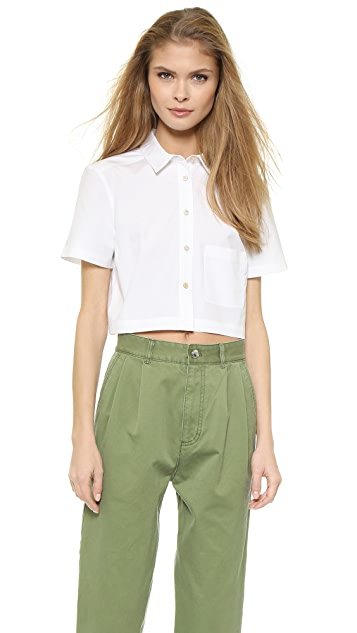 d8d60b128 Marc by Marc Jacobs Stretch Poplin Cropped Blouse | SHOPBOP