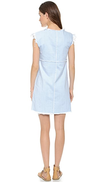Marc by Marc Jacobs Frayed Denim Dress