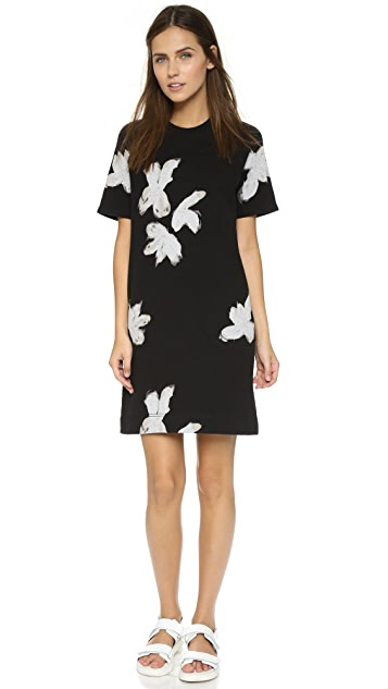 Marc by Marc Jacobs Grand Painted Flower Sweatshirt Dress
