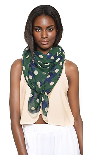 Marc by Marc Jacobs Dotty Flora Scarf