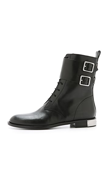 Marc by Marc Jacobs Grove Lace Up Moto Boots