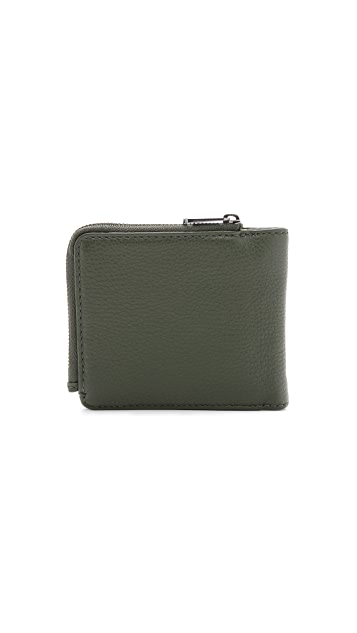 Marc by Marc Jacobs Classic Leather Yen Wallet with Coin Zip