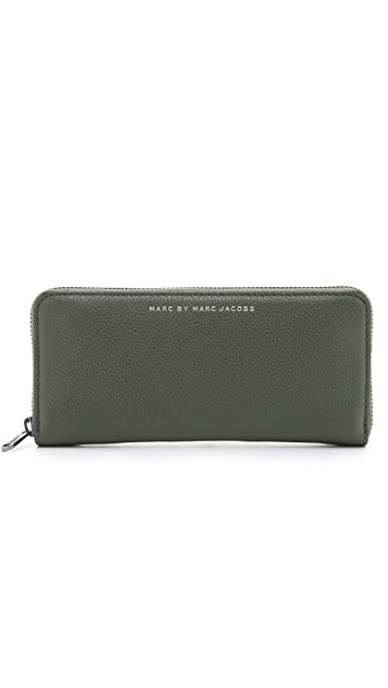 Marc by Marc Jacobs Classic Leather Long Fold Zip Wallet