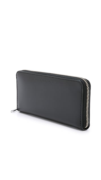 Marc by Marc Jacobs Colorblocked Long Fold Zip Around Wallet