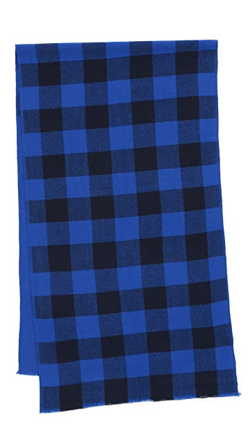 Marc by Marc Jacobs Boiled Wool Plaid Scarf