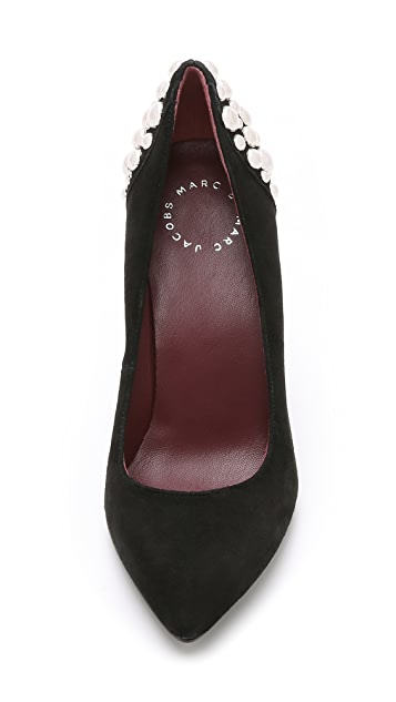 Marc by Marc Jacobs Mackenzie Suede Studded Pumps