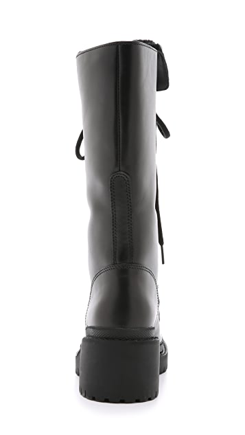 Marc by Marc Jacobs Leigh Shearling Army Boots