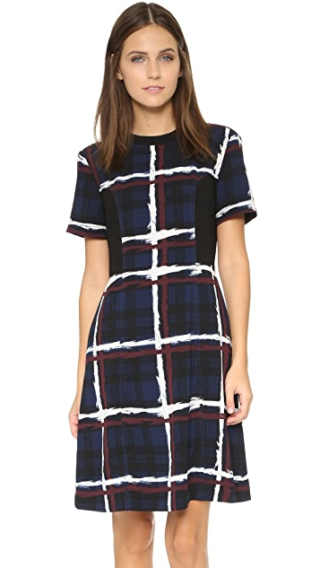 Marc by Marc Jacobs Chalky Tartan Crepe Dress