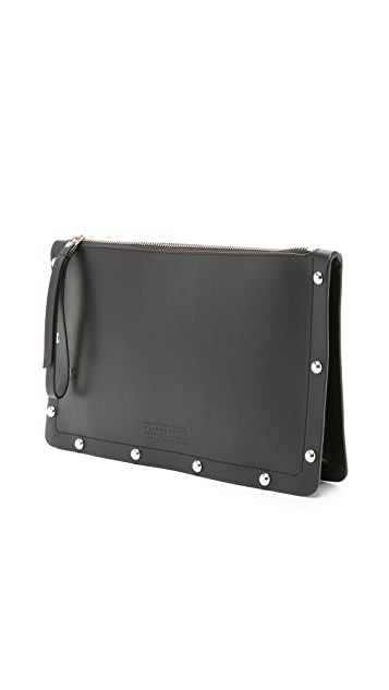 Marc by Marc Jacobs Quintana Domed Studs Zip Pouch