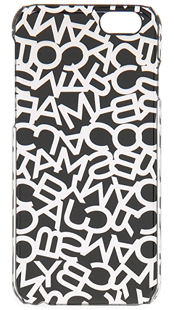 Marc by Marc Jacobs Metallic Scrambled Logo iPhone 6 / 6s Case