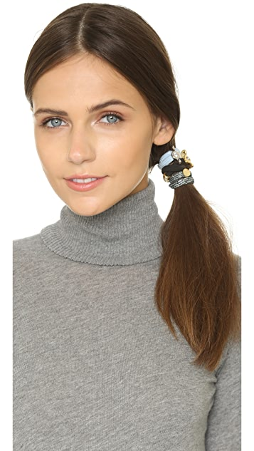 Marc by Marc Jacobs Embellished Wingnut Coil Cluster Ponies