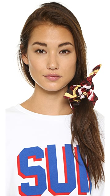 Marc by Marc Jacobs Print Bunny Scrunchie