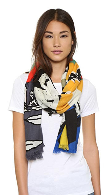 Marc by Marc Jacobs Protest Scarf