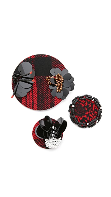 Marc by Marc Jacobs Embellished Badge Set
