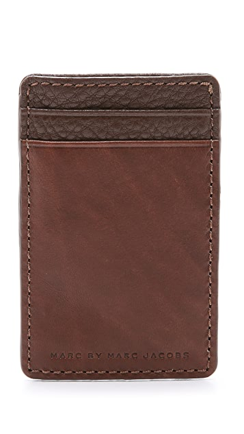Marc by Marc Jacobs Classic Leather Credit Card Holder