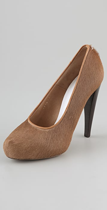 Maison Margiela Haircalf Hidden Platform Pumps