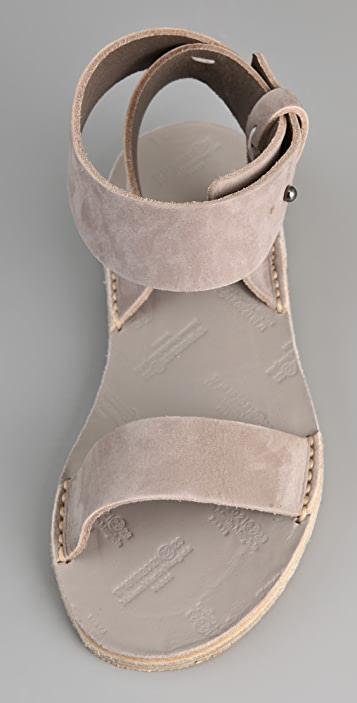 Maison Margiela Ankle Wrap Flat Sandals