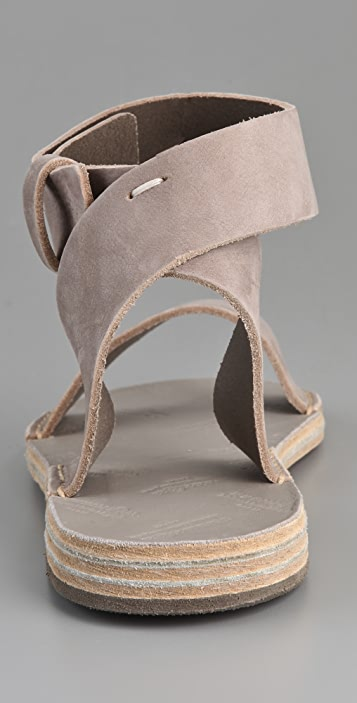 Maison Margiela Ankle Wrap Flat Sandals