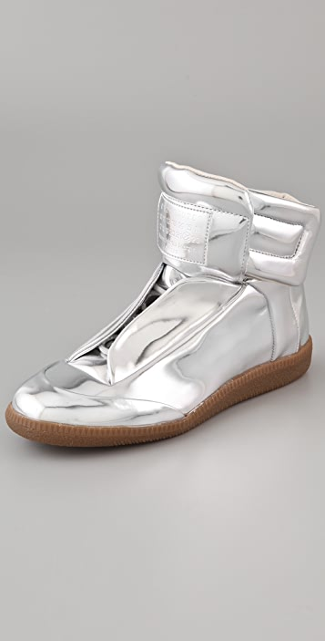 Maison Margiela Metallic Flat Sneakers