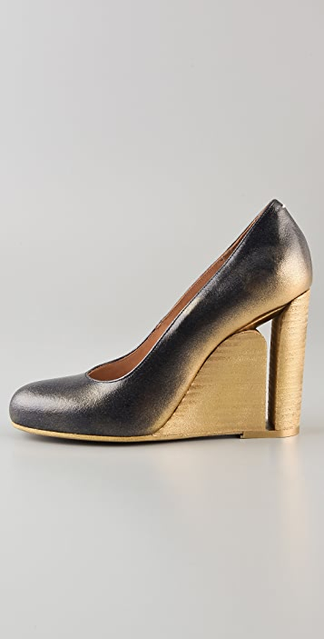 Maison Margiela Cutout Heel Wedge Pumps