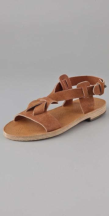 Maison Margiela Flat Suede Sandals