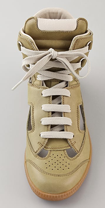 Maison Margiela Cutout High Top Sneakers