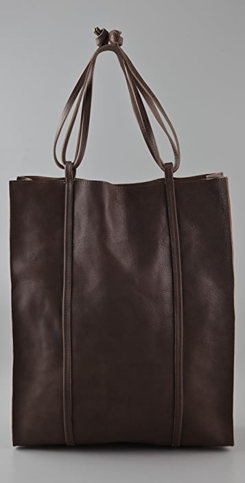 Maison Margiela North South Leather Tote Bag