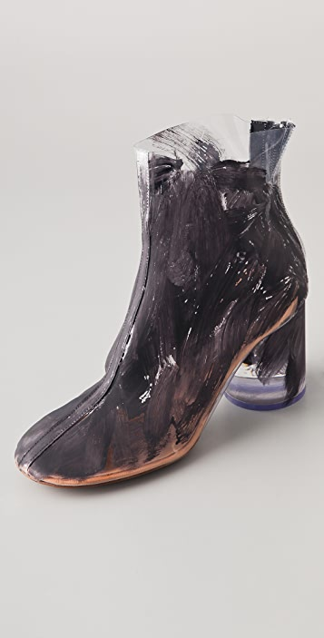 Maison Margiela Painted PVC Booties