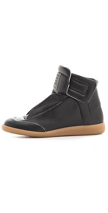 Maison Margiela Leather Flat Sneakers