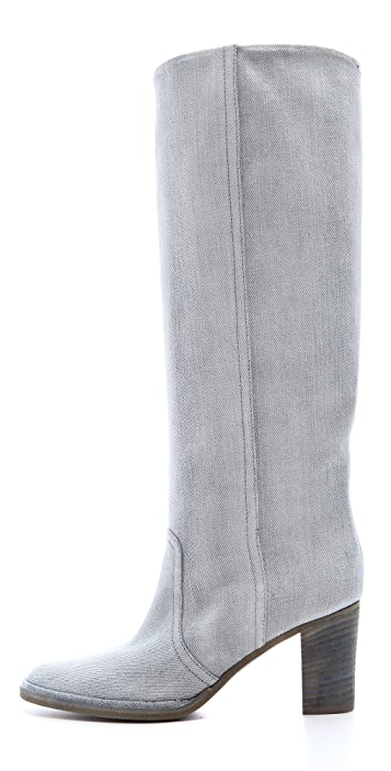 Maison Margiela Denim Knee Boots