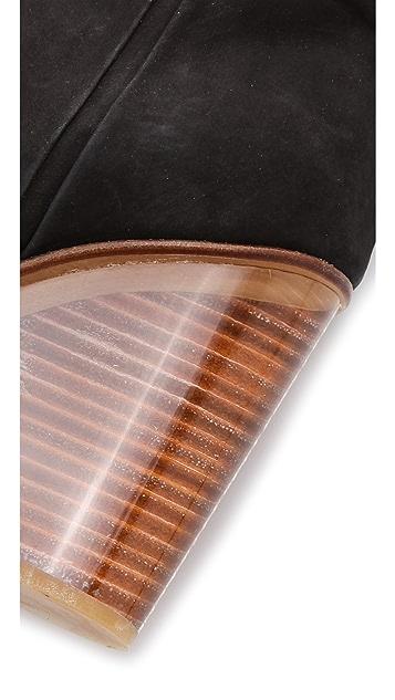 Maison Margiela Plexi Covered Wedge Boots