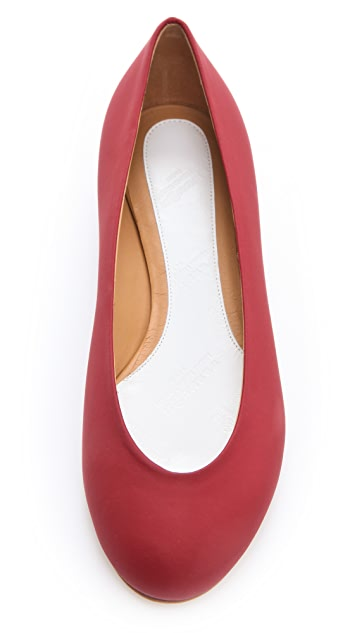 Maison Margiela Rubberized Leather Flats