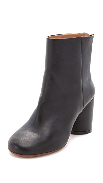 Maison Margiela Round Heel Back Zip Booties