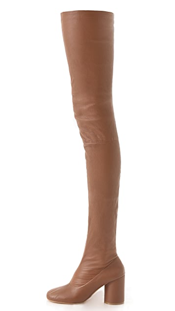 Maison Margiela Thigh High Round Boots