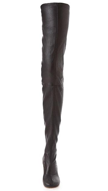 Maison Margiela Thigh High Round Boots