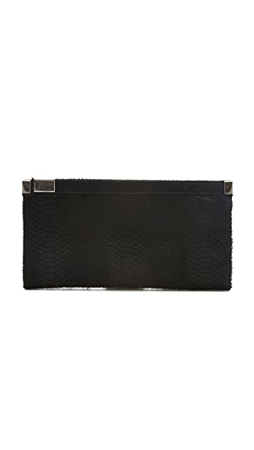 Maison Margiela Haircalf Zip Lock Clutch