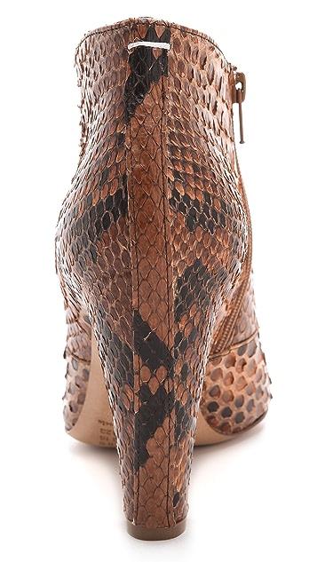Maison Margiela Curved Heel Booties